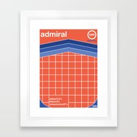 admiral single hop Framed Art Print