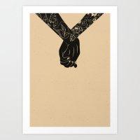 Holding On Art Print