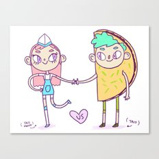 Taco love 2  Canvas Print