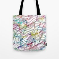 Tote Bag featuring Trace Paint Abstract by Msimioni