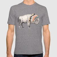 White Bison Mens Fitted Tee Tri-Grey SMALL