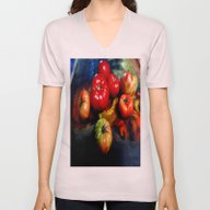 Unisex V-Neck featuring Red-Green Tomatoes Kitch… by SharlesArt