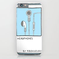 iPhone & iPod Case featuring HEADPHONES Card by R.Bongiovani