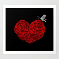 A Butterfly To Be, A Ros… Art Print
