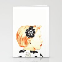 Illustration with black and white Stationery Cards
