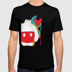 Baymax Black Mens Fitted Tee SMALL