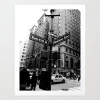 E 45th St & Madison Ave, NY Art Print