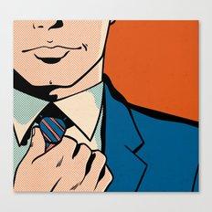 Untitled (Man Adjusting Tie) Canvas Print