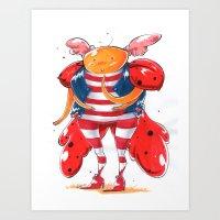 Little LadyBug Art Print