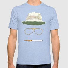 Movie Icons: Fear and Loathing in Las Vegas Mens Fitted Tee Tri-Blue SMALL