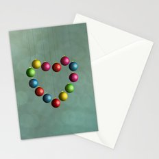 Christmas time heart Stationery Cards