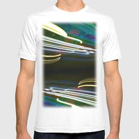 Night Light 97 Mens Fitted Tee White SMALL