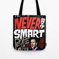 No Smart People Tote Bag