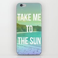 Take Me to the Sun iPhone & iPod Skin