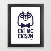 Cat Mc Catson Framed Art Print