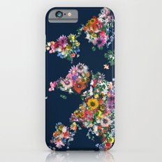 world map floral Slim Case iPhone 6s