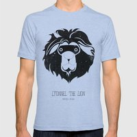 Lyonnel the Lion Mens Fitted Tee Tri-Blue SMALL