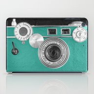 Teal Retro Vintage Phone iPad Case