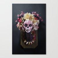 April Blossom Muertita Front Canvas Print