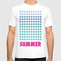 Summer Time Mens Fitted Tee White SMALL