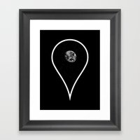 You Are Here Framed Art Print