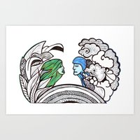 From Two Different World… Art Print