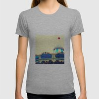 San Francisco Carousel Pier 39 Womens Fitted Tee Athletic Grey SMALL