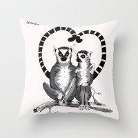 Lemur L'amur Throw Pillow