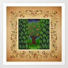 The Magical Apple and Orange Tree 2016 Art Print