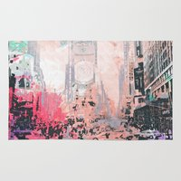 time square/new york Rug