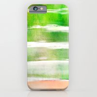 waves - green iPhone 6 Slim Case