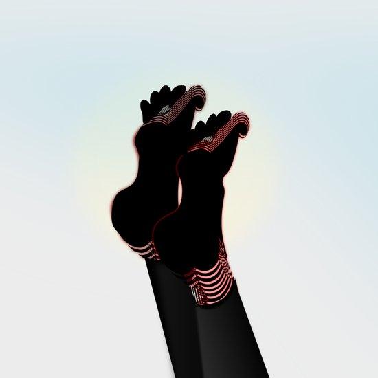 Black Socks with Toes Art Print
