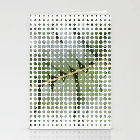mesh white Stationery Card