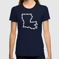 Ride Statewide - Louisia… Womens Fitted Tee Navy SMALL