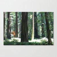 Big Foot Says Hello Canvas Print