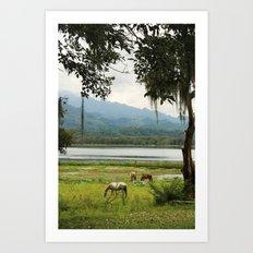 Honduras - A quiet Wednesday Art Print