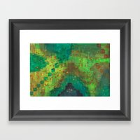 Green Pyramids Framed Art Print