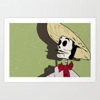 Dia De Los Muertos Man Art Print