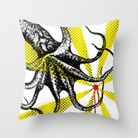 Kraken Up Throw Pillow