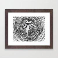 God-Kraken Framed Art Print