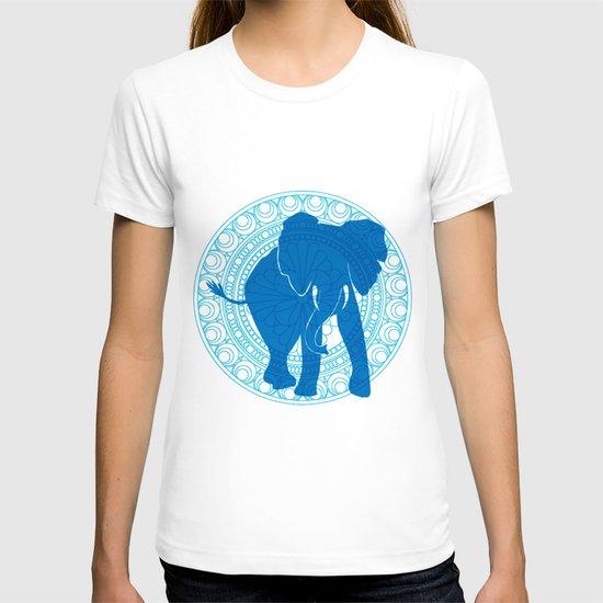 Turquoise Elephant  T-shirt