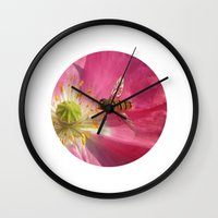 flower fly macro VII Wall Clock