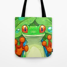 Frankie the Frog Tote Bag