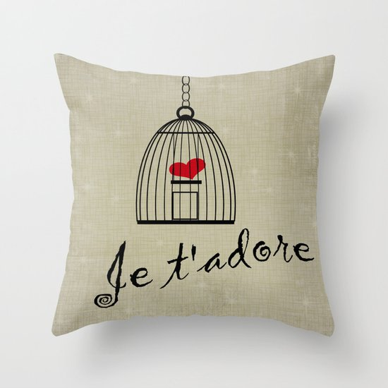 Je t'adore Throw Pillow