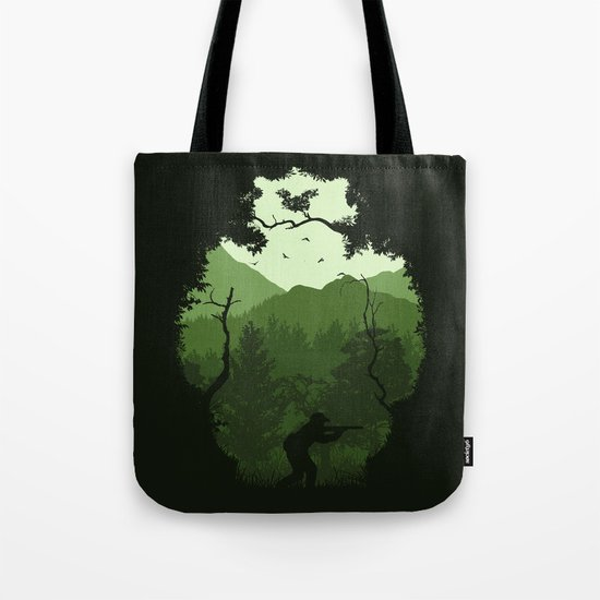 Hunting Season - Green Tote Bag
