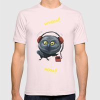 Hooting lesson Mens Fitted Tee Light Pink SMALL
