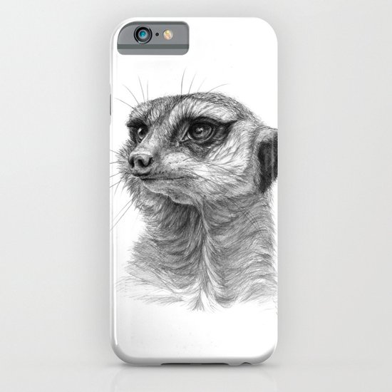 Meerkat-portrait G035 iPhone & iPod Case