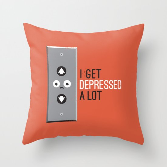 Feeling Down Throw Pillow
