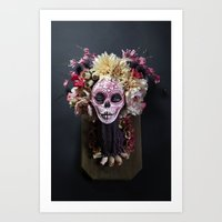 April Blossom Muertita Front Art Print