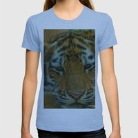Baby Tiger  Womens Fitted Tee Athletic Blue SMALL